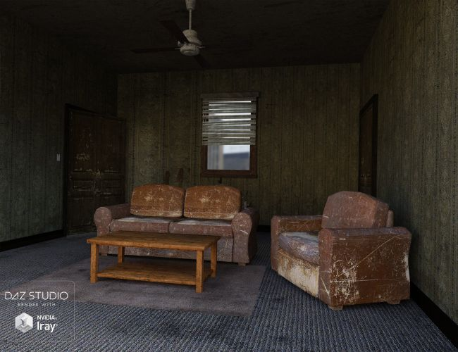 Rundown Apartment 3d Models For Poser And Daz Studio