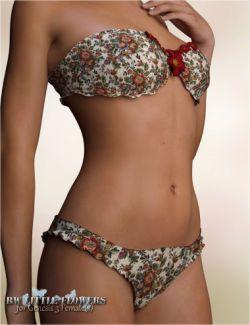 RW Little Flowers Underwear for Genesis 3 Female(s)