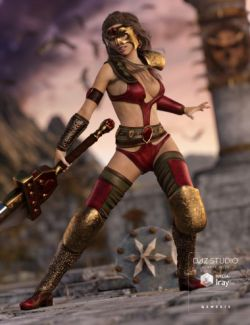 Soldier of Chaos Outfit for Genesis 3 Female(s)