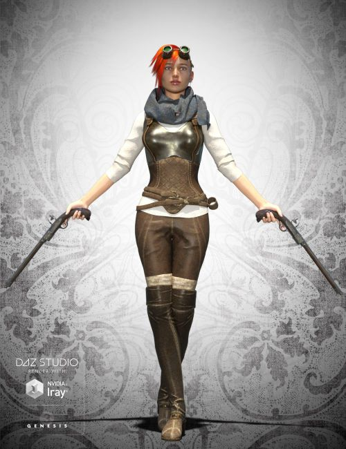 victorian huntress steampunk bundle 3d models for poser
