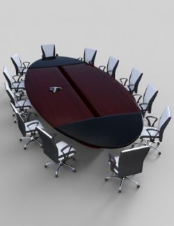 Furniture Set 6: Conference Table and Chairs