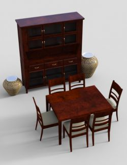 Furniture Set 4: Typical Dining Furnitures