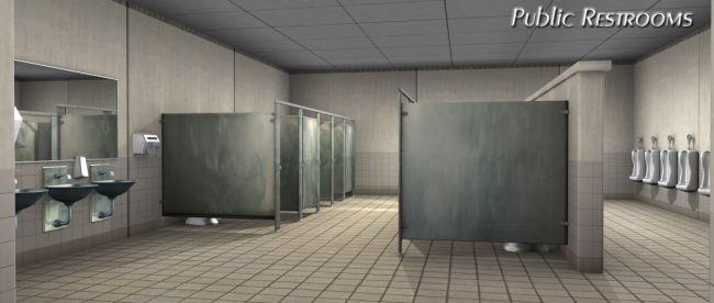 Public Restrooms Ubiquitous Interiors 0Public