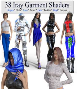 38 Iray Garment Shaders