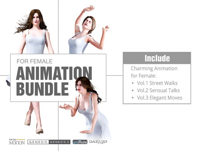 Charming Animation for Genesis Female Character Bundle