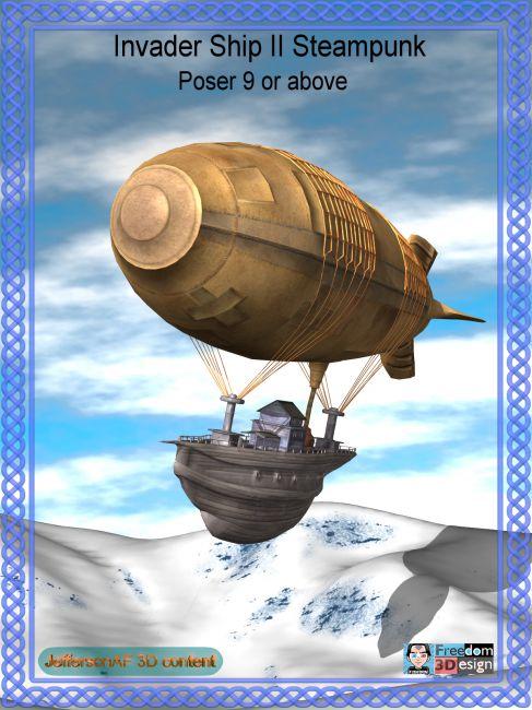 Invader Ship II Steampunk