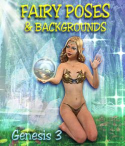 FAIRY POSES and Backgrounds for Light Elf & G3F
