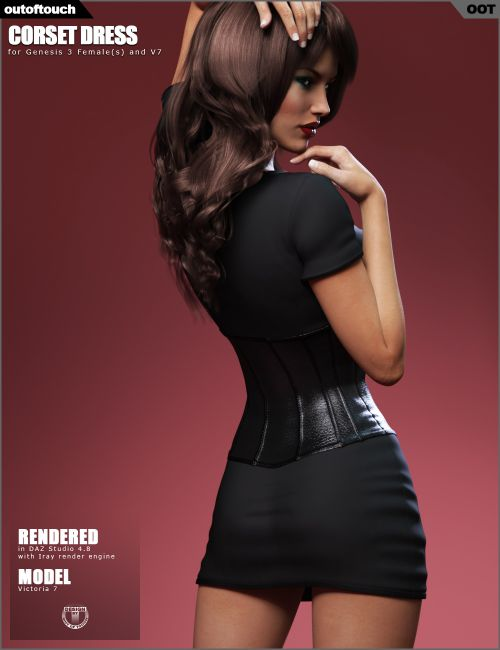 Quality Auto Parts >> Corset Dress for Genesis 3 Female(s) | Clothing for Poser ...