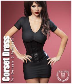 Corset Dress for Genesis 3 Female(s)