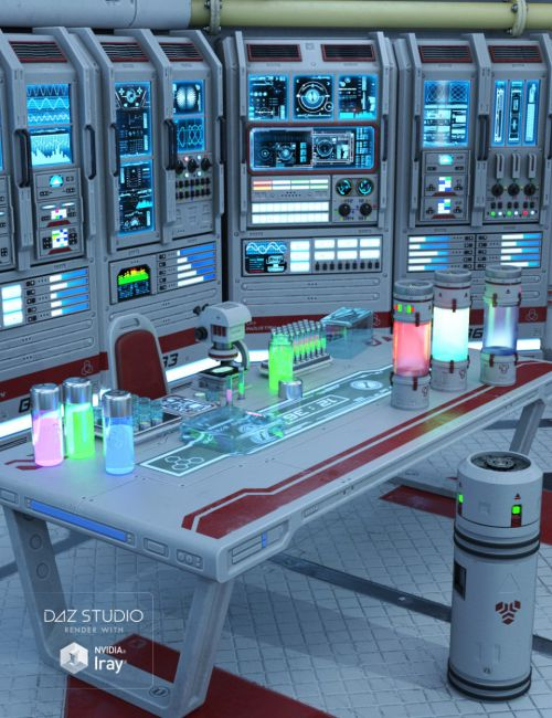 Sci Fi Lab Props 3d Models For Poser And Daz Studio