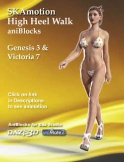Genesis 3 Female(s) & Victoria 7 High Heel Walk aniBlock