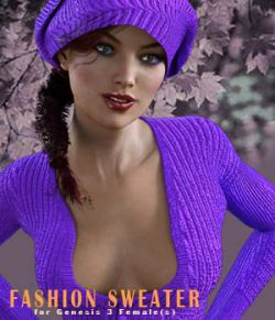 Fashion Sweater for Genesis 3 Female