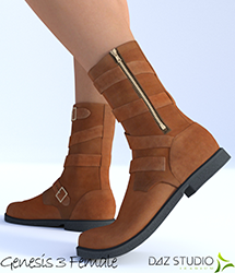 Urban Strap Boots for Genesis 3 Female