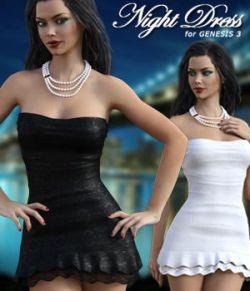 Night Dress For Genesis 3