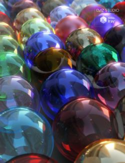 Colored and Broken Glass Iray Shaders