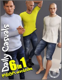 Daily Casuals MEGA Wardrobe for Genesis 3 Male(s)