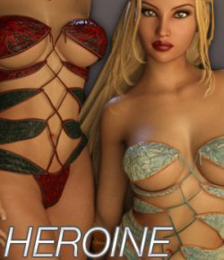 HEROINE- Fantasy Wraps for Genesis 3 Female(s)
