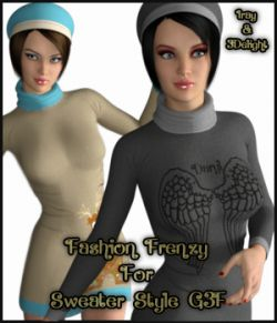 Fashion Frenzy For Sweater Style For G3F By Kaleya