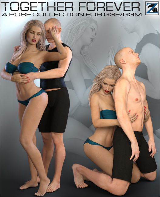 Z Together Forever - Poses for Genesis 3 Female and Male