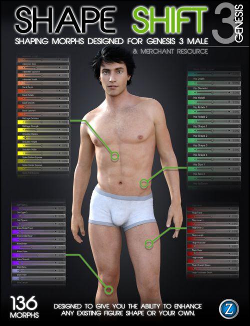 Shape Shift for Genesis 3 Male(s)