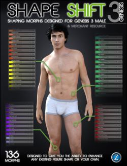 Shape Shift for Genesis 3 Male(s)