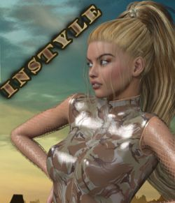 InStyle - Zipped Leather Suit for Genesis 2 Female(s)
