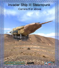 Invader Ship III Steampunk Carrara