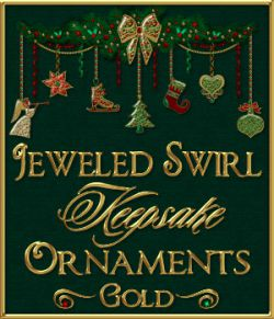 Jeweled Swirl Keepsake Ornaments: GOLD