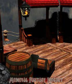 Medieval Fantasy Lookout Prop Set