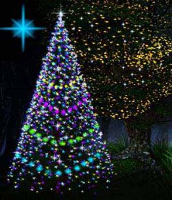 Christmas and Fairy star lights for POSER (emissive light props)