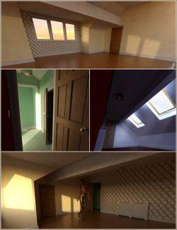 Modern Living Attic Bedroom