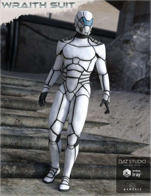 HFS Wraith Suit for Genesis 2 and 3 Male(s)