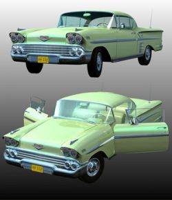 CHEVROLET IMPALA 1958 (Poser and.OBJ)