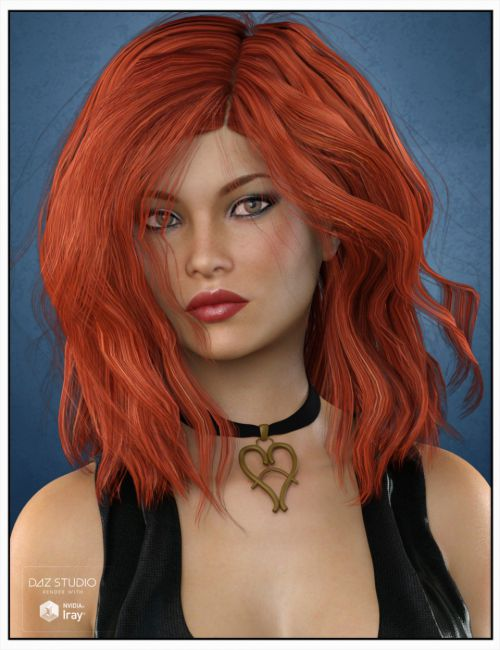 Hanna Hair for Genesis 3 Female(s), Genesis 2 Female(s) and Victoria 4