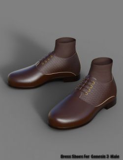 Dress Shoes for Genesis 3 Male(s)