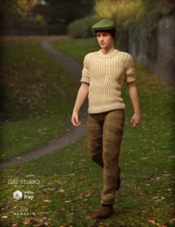 Chunky Knit Sweater Outfit for Genesis 3 Male(s)