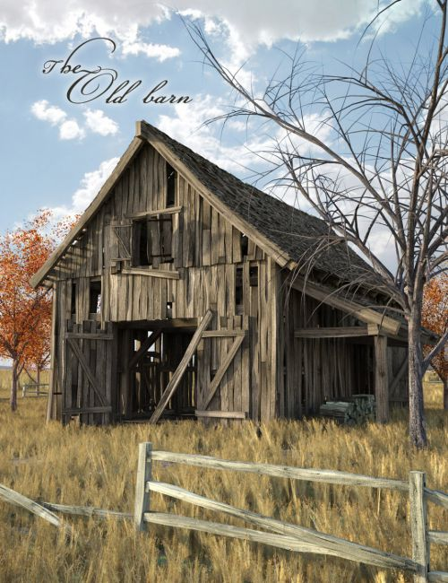 The Old Barn 3d Models For Poser And Daz Studio