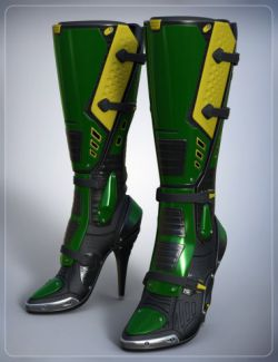 Sci Fi Boots for Genesis 3 Female(s)