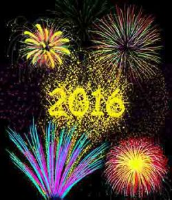 Fire Works and New Year 2016 brushes for Photoshop