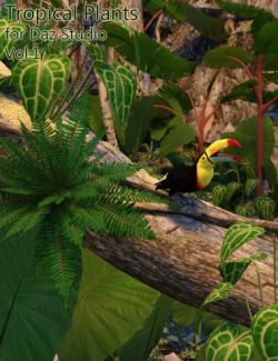 Tropical Plants for Daz Studio and Iray Vol.1