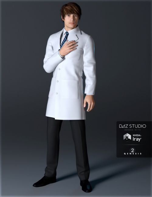 Doctor's Coat and Suit for Genesis 2 Male(s)