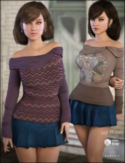 Off Shoulder Sweater Comfy Textures