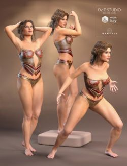 Amazon Queen Poses for Olympia 7