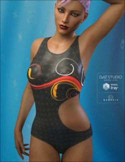 WT21 Wicked Strappy Swimsuit Textures