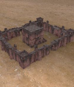 Fortress Keep Construction Set (for Poser)
