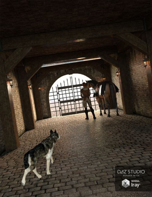 Medieval Hallway