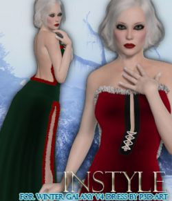 InStyle:XMas Hotties- Winter Galaxy V4 Dress
