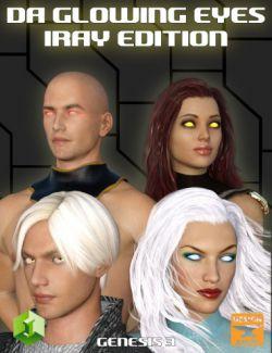 DA Glowing Eyes Iray Edition for Genesis 3