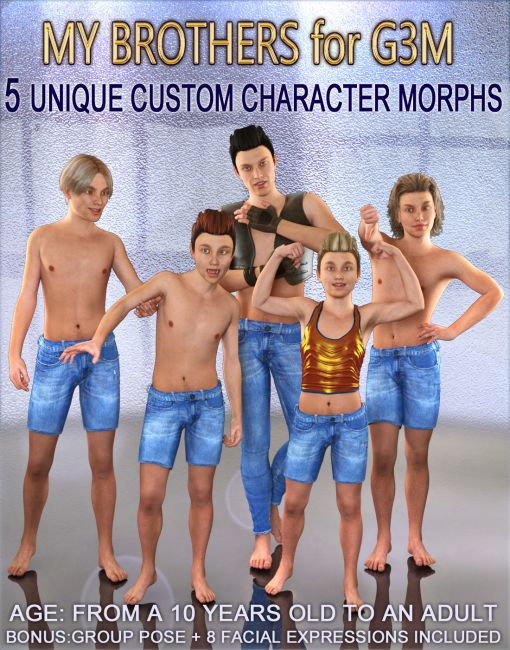 MY BROTHERS for G3M - Full Custom Body Morphs