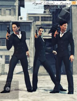 Agent Gun - Poses for Genesis 3 Male, Michael 7 and Leo 7